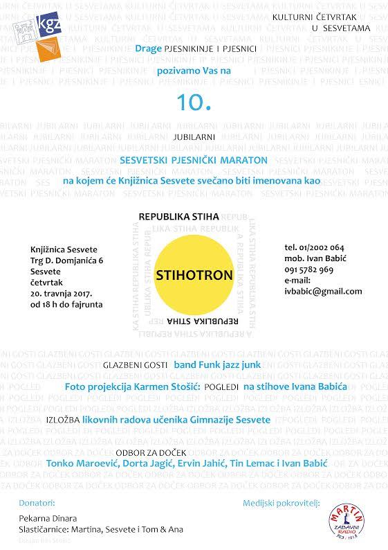 10. maraton - plakat